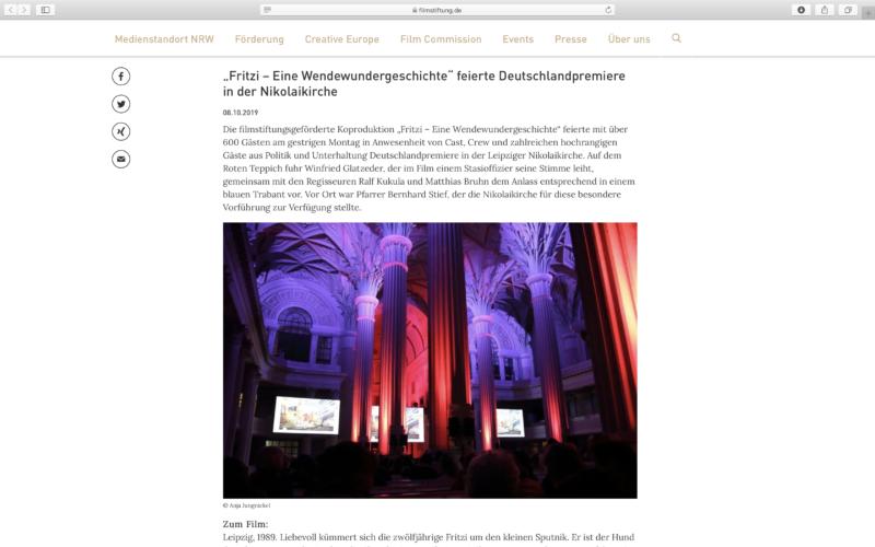 """""""FRITZI - Eine Wendewundergeschichte"""" • Fotodokumentation der Film-Premiere im Auftrag des Filmverleihs """"Weltkino"""""""